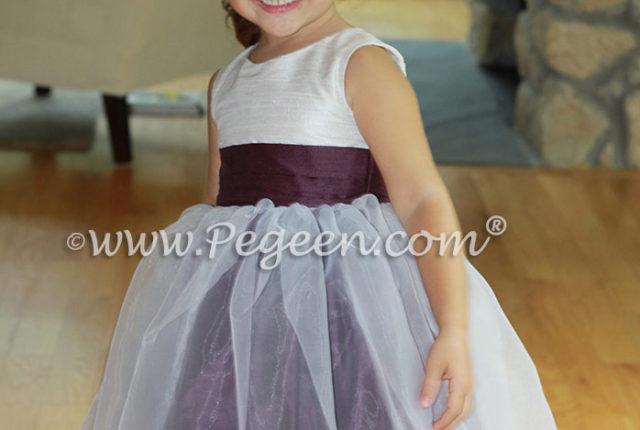 1000 Nights Custom Silk Flower Girl Dresses with An Organza Skirt