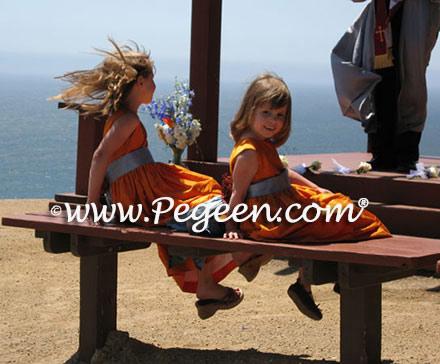 Orange and Blue, orange wedding, blue wedding, coastal wedding, california wedding